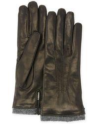 Mario Portolano | Leather Gloves W/ Cashmere Trim | Lyst