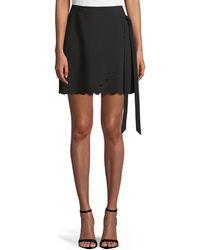 Likely - Mila Scalloped-hem Wrap Mini Skirt - Lyst