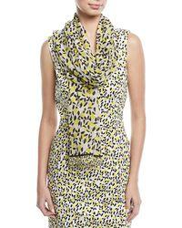 ESCADA   Lemon-print Cotton-silk Scarf   Lyst