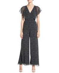 Fame & Partners - Elena V-neck Jumpsuit W/ Flutter Sleeves - Lyst