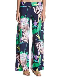Trina Turk - Midnight Paradise Coverup Wide Leg Pants - Lyst