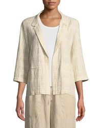 Eileen Fisher - 3/4-sleeve Division Jacquard Jacket - Lyst