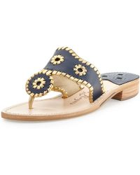 Jack Rogers - Nantucket Whipstitch Thong Sandal - Lyst