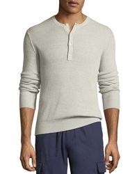 Vince - Men's Ribbed Henley Shirt - Lyst