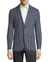 Etro - Striped Wool-blend Sport Coat - Lyst