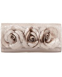 Nancy Gonzalez | Rose Crocodile Flap Clutch Bag | Lyst