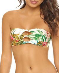 Pilyq - Knotted Floral Bandeau Bikini Top - Lyst