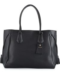 Longchamp - Penelope Large Leather Tote Bag - Lyst