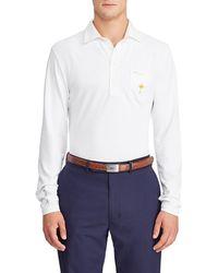 Ralph Lauren - Men's Quarter-button Long-sleeve Golf Polo Shirt - Lyst