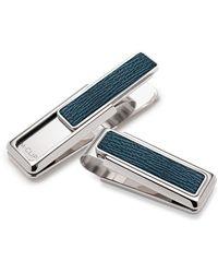 M-clip - Shagreen Money Clip Dark Blue - Lyst