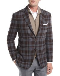 Canali | Large Check Wool Sport Coat | Lyst