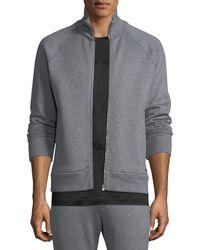 Ferragamo | Stand-collar Zip-front Sweatshirt | Lyst