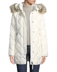 Bogner - Irina Diamond-quilted Coat W/ Removable Hood & Fur Trim - Lyst