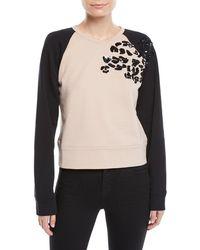 N°21 - Sequin Raglan Pullover Sweater - Lyst