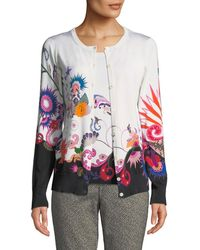Etro - Floral-knit Two-piece Cardigan Top - Lyst