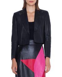 Akris - Aita Leather Bolero Jacket - Lyst