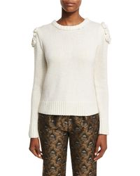 Co. - Floral-knit Crewneck Sweater - Lyst