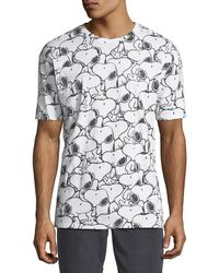 ELEVEN PARIS - Men's Seanum Peanuts Snoopy Graphic T-shirt - Lyst