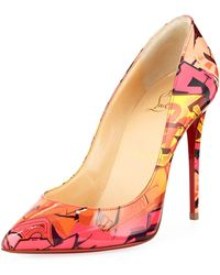 Christian Louboutin - Pigalle Follies 100mm Patent Metrograf Red Sole Pumps - Lyst