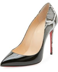 Christian Louboutin - Pigalle Follies Ombre Snake-print Red Sole Pump - Lyst