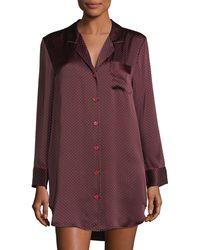 Neiman Marcus - Printed Silk Sleepshirt - Lyst