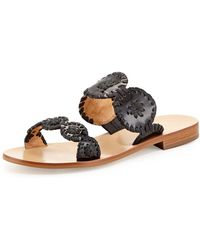 Jack Rogers - Lauren Double-strap Sandals Black - Lyst