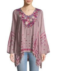 Johnny Was - Wish Stitch Embroidered Tunic - Lyst