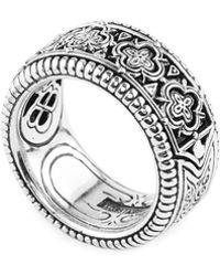 Konstantino - Zeus Carved Sterling Silver Band Ring - Lyst