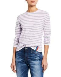 Kule - The Modern Long Striped Crewneck Cotton Top - Lyst
