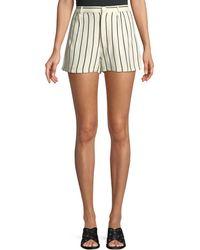 Lovers + Friends - Jordy Striped Pintuck Linen Shorts - Lyst