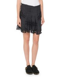 Isabel Marant - Ramie Eyelet Mini Skirt - Lyst