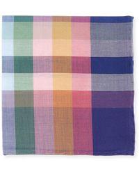 Simonnot Godard - Madras Plaid Cotton Pocket Square - Lyst