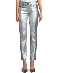 Ralph Lauren Collection - Barton Metallic Straight-leg Jeans - Lyst