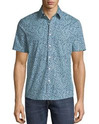 Michael Kors - Men's Trim Fit Short-sleeve Button-front Shirt - Lyst
