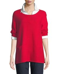 Joan Vass - Two-pocket Cotton Sweater - Lyst