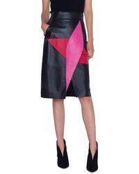 Akris - Leather Wrap-effect Patchwork Pencil Skirt - Lyst