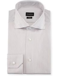 Ermenegildo Zegna - Twin-stripe Cotton Dress Shirt - Lyst