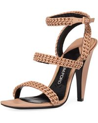 Tom Ford - Chain Strappy 105mm Sandals - Lyst