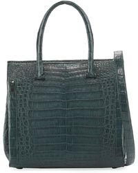 Nancy Gonzalez | Medium Double-handle Crocodile Tote Bag | Lyst