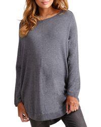 Ingrid & Isabel - Maternity Long-sleeve Batwing Poncho Sweater - Lyst