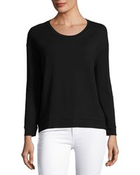 Neiman Marcus - Soft-touch French Terry Sweatshirt - Lyst