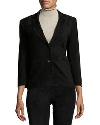 The Row - Nolbon Suede Two-button Jacket - Lyst