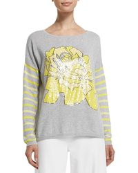 Joan Vass - Rose/striped Sweater - Lyst