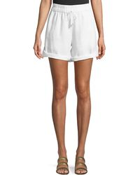 Eileen Fisher - Linen Roll-tab Shorts - Lyst