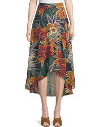 Club Monaco - Elianna High-waist Floral Midi Skirt - Lyst