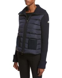 Moncler - Maglia Zip-front Knit Combo Jacket - Lyst