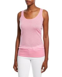 Michael Kors - Cashmere Featherweight Tank Top - Lyst