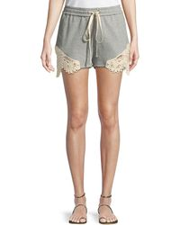 Jonathan Simkhai - Crochet Casuals Drawstring Cotton Shorts - Lyst