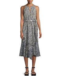 10 Crosby Derek Lam - Sleeveless Belted Printed A-line Dress - Lyst