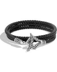 John Hardy - Men's Legends Triple-wrap Leather Bracelet - Lyst